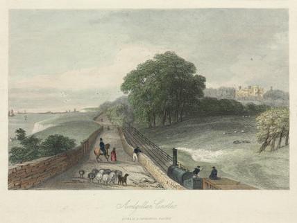 'Ardgillan Castle' near the Dublin & Drogheda Railway, 19th century.