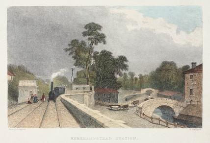 'Berkhamstead station' (sic), Hertfordshire, 19th century.