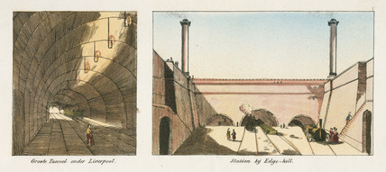 Two tunnels from the Liverpool & Manchester Railway, c 1830s.
