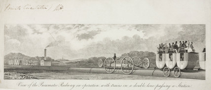 'View of the pneumatic railway...', 19th century.