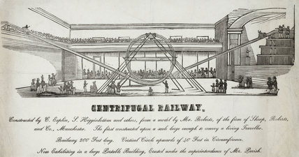 'Centrifugal Railway', Manchester, 1850s.
