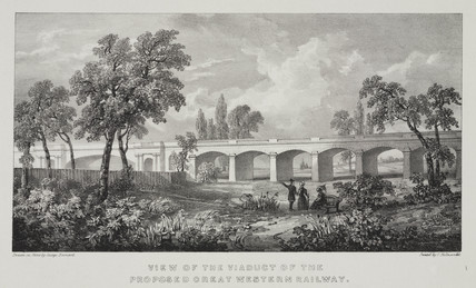 Wharncliffe Viaduct, Ealing, 1830s.