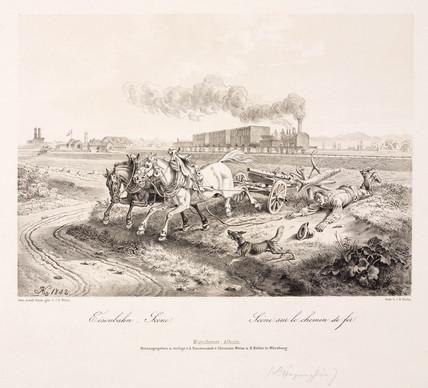 'A railway scene', 1842.