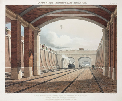 Hampstead Road Bridge on the London & Birmingham Railway, 1837.
