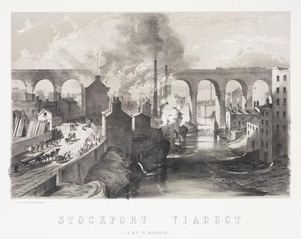 Stockport Viaduct, London & North Western Railway, 1848.