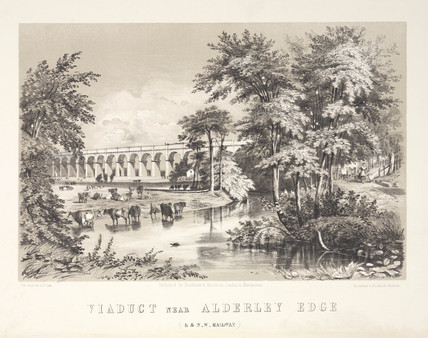 'Viaduct near Alderley Edge', Cheshire, London & North Western Railway, 1848.