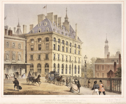 The London Bridge Terminus Hotel, 19th century.