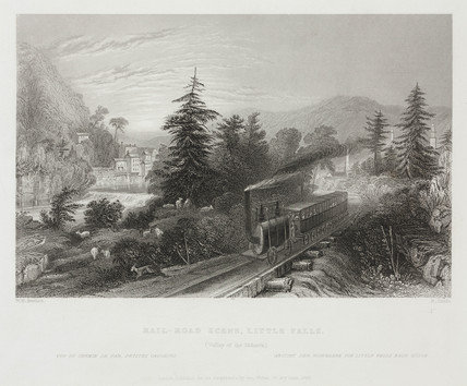 'Rail-road scene, Little Falls', 1839.