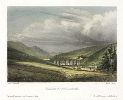 'Viaduct Payerbach', Austria, 19th century.