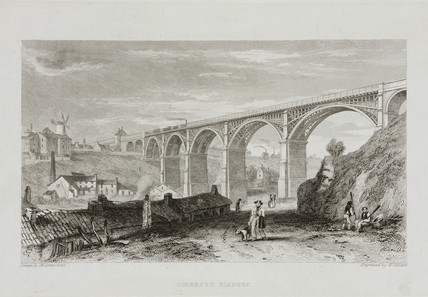 'Ouseburn Viaduct' , Northumberland, mid 19th century.