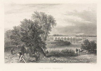 'The Avon Viaduct', Wolston, mid 19th century.