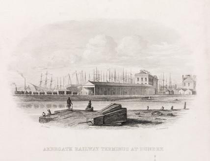 'Arbroath Railway Terminus at Dundee', Scotland, mid 19th century.