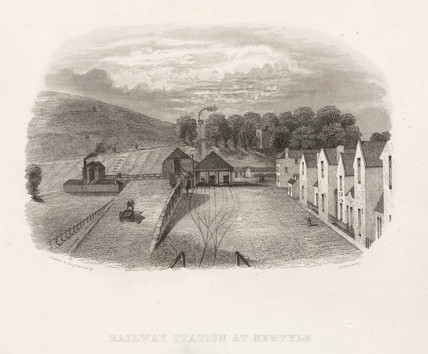 'Railway Station at Newtyle', Scotland, mid 19th century.