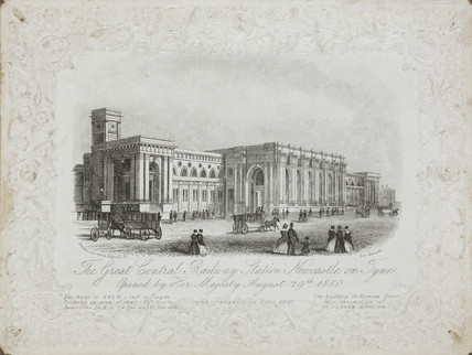 'The Great Central Railway Station, Newcastle on Tyne', 1850.