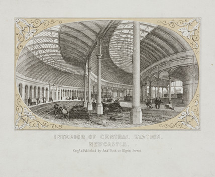 'Interior of Central Station, Newcastle', c 1850.