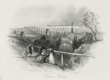 'Folkestone Viaduct', Kent, 19th century.