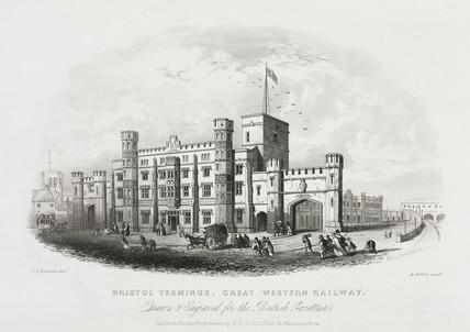 Bristol Terminus, Great Western Railway', c 1841.