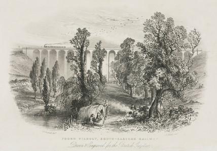 'Foord Viaduct, South Eastern Railway', Folkestone,19th century.