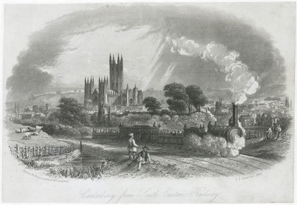 'Canterbury from South Eastern Railway', Kent, 1846.