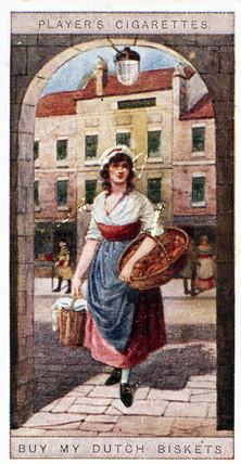 'Buy my dutch biskets', trade card, 1916.