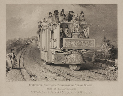 'Dr Church's London & Birmingham Steam Coach', 1833.