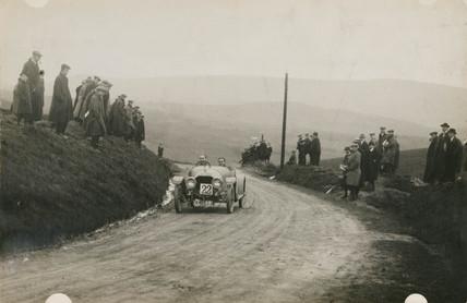 Racing car, Waddington Fells, Lancashire, c 1912.