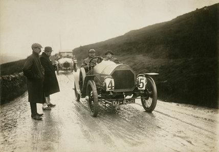 Humber racing car, Lancashire, c 1912.