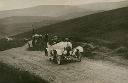 Fiat racing car, Waddington Fells, Lancashire, c 1912.