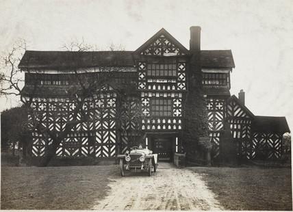 Hispano-Suiza motor car, Little Moreton Hall, Cheshire, c 1912.