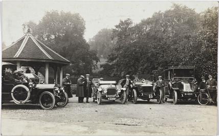 Motor cars, c 1912.