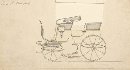 Lord Beresford's carriage, mid 19th century.
