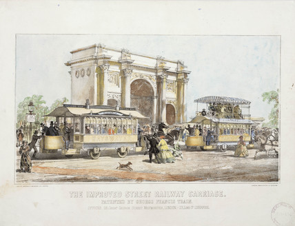 'The Improved Street Railway Carriage' 1861.