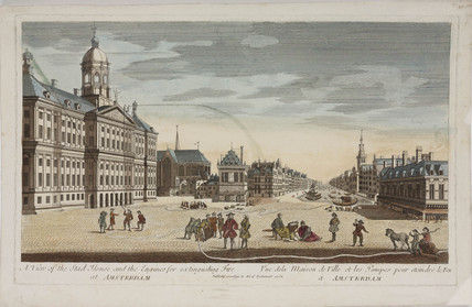 The Stad House, Amsterdam, and engines for extinguishing fire, 1752.