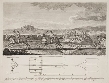 Proposed design for a trotting carriage, c 1765.