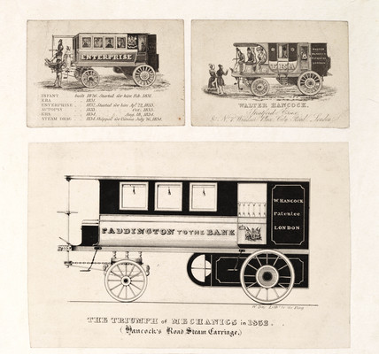 Hancock's steam carriages, c 1833.