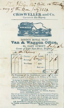 Carrier's way-bill, 1828.