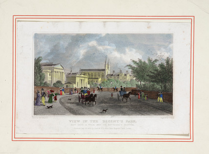 'View in the Regent's Park', London, 1828.