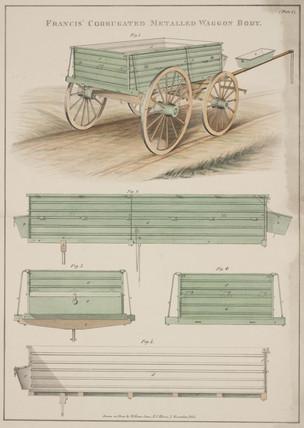 'Francis' Corrugated Metal Waggon Body', 1855.