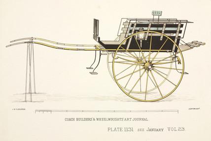 Spring cart, c 1903.