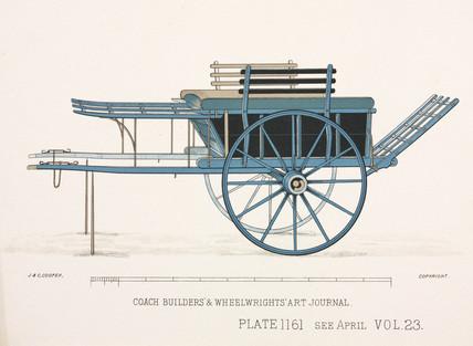 Hay or fodder cart, c 1903.