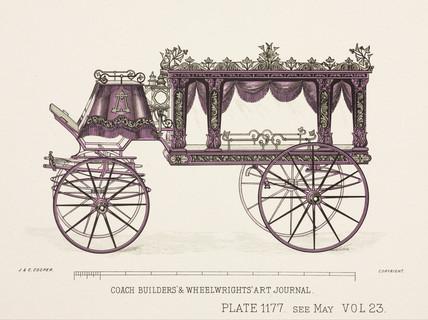 Glas hearse, c 1903.