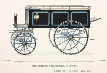 Undertaker's floral van, c 1903.