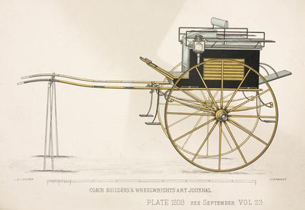 Tandem cart, c 1903.