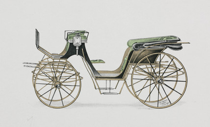 Victoria carriage, 1906.