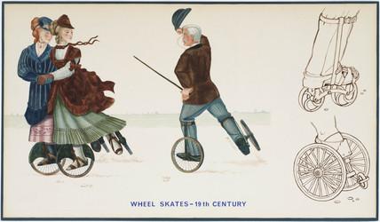 'Wheel Skates', 19th century.