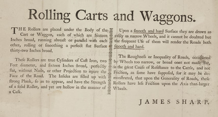 'Rolling Carts and Waggons', 1772-1869.