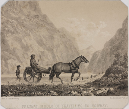 'Present Modes of Travelling in Norway', 19th century.