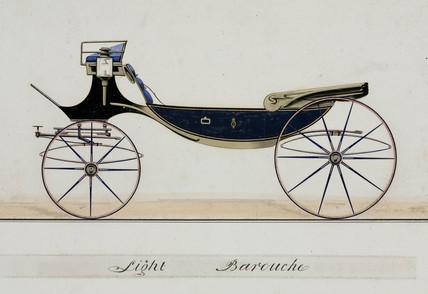 Light barouche, 19th century.