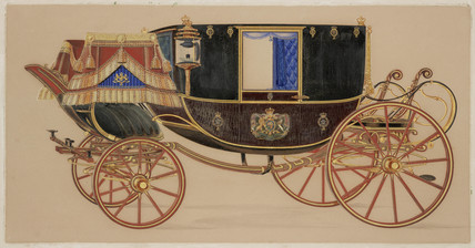 State coach, 19th century.