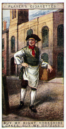 'Buy my Right Yorkshire Cakes, buy my Muffins', trade card, 1916.